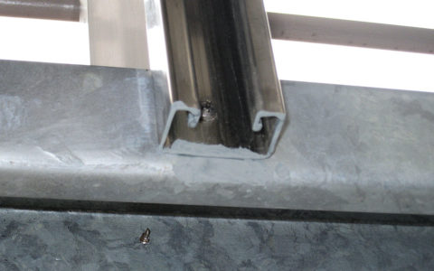 切断面の端面補修