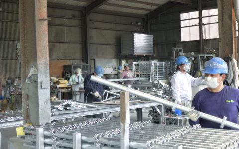 亜鉛めっき工場